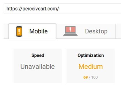 google speed test mobile before
